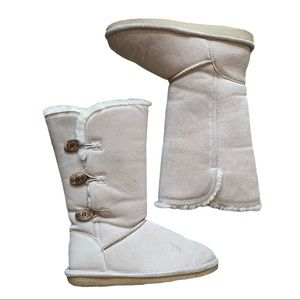 BEARPAW light tan suede shearling boots Size 9